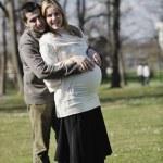 Happy pregnancy — Stock Photo
