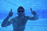 Swimming pool underwater — Stock Photo