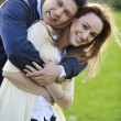 Stock Photo: Happy couple outdoor