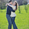 Happy couple outdoor — Stockfoto