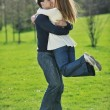 Happy couple outdoor — Stockfoto #3193209