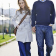 Happy couple outdoor — Stockfoto #3193295
