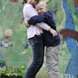 Happy brother and sister outdoor in park — Stock Photo #3194764