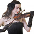 Beautiful young lady play violin — Stock Photo #3306111
