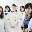 Group in lab — Stockfoto