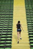 Kadın Atletizm Stadyumu koşu — Stok fotoğraf
