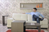 Man relax at home — Stock Photo