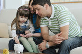 Rodzina finansów — Zdjęcie stockowe