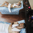 Young couple relax at wellness and spa treatment — Stock Photo