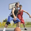 Royalty-Free Stock Photo: Streetball  game at early morning