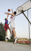 Streetball game at early morning — Stock Photo