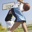 Stock Photo: Streetball game at early morning