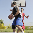 Streetball  game at early morning - Stockfoto
