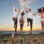 Beach party — Stock Photo #4383019