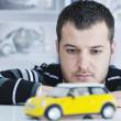 Young car designer — Stock Photo