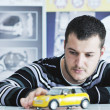 Young car designer - Stock Photo