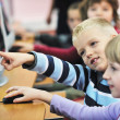 Foto de Stock  : It education with children in school