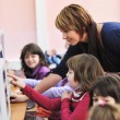 It education with children in school — Stock Photo #4400225