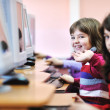 Stock Photo: It education with children in school