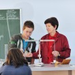 Science and chemistry classees at school — Stock Photo