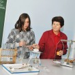 Science and chemistry classees at school -  
