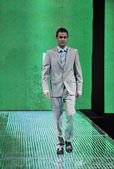 Male model on fashion show — Stock Photo