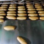 Bread factory production — Stock Photo