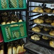 Bread factory production - Stok fotoraf