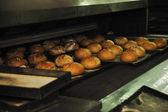 Ekmek fabrikası üretim — Stok fotoğraf