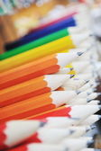 Wooden colored pencil — Stockfoto