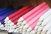 Wooden colored pencil — Stock Photo