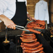 Grilling fresh meat - Stock Photo