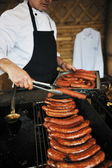 Grilling fresh meat — Stock Photo