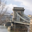 Budapest chain bridge at day — Stock Photo