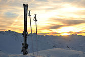 Berg Schnee Sonnenuntergang — Stockfoto