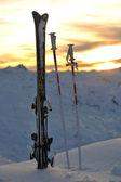 Mountain snow sunset — Stock Photo