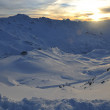 Mountain snow sunset — Lizenzfreies Foto