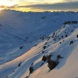 Mountain snow sunset - Foto de Stock