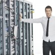 Young it engeneer in datacenter server room — Stock Photo #4786753