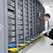Business mpractice yogat network server room — Stock Photo #4792018