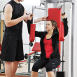 Happy young couple fitness workout and fun — Foto Stock