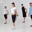 Young group in fitness club — Stock Photo