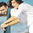 Happy young couple have fun at beautiful beach — Stock Photo #4830224