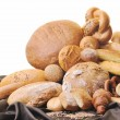 Fresh bread food group — Stock Photo