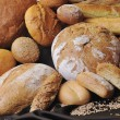 Fresh bread food group — ストック写真