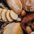 Fresh bread food group - Stock Photo