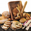 Fresh bread food group - Photo