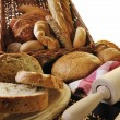 Fresh bread food group — Stock Photo #4868161