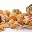 Fresh bread food group - Stockfoto