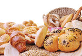 Fresh bread food group — Stock Photo